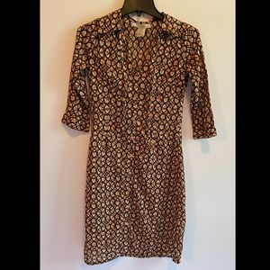 Free People Half Sleeve Button Down Dress